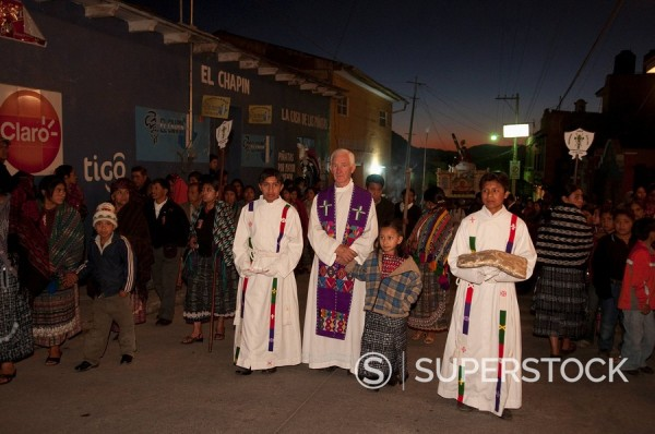 Easter procession, Totonicapan, Guatemala, Central America : Stock Photo