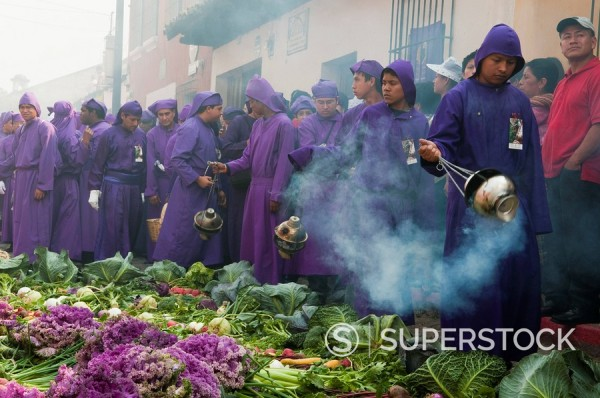 Stock Photo: 1890-98094 Holy Week Procession, Antigua, Guatemala, Central America