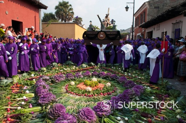 Stock Photo: 1890-98096 Holy Week Procession, Antigua, Guatemala, Central America