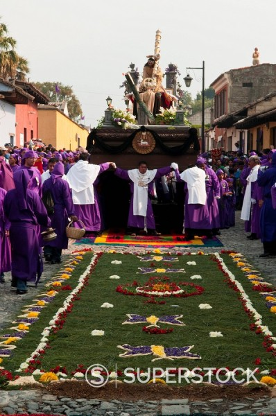 Stock Photo: 1890-98097 Holy Week Procession, Antigua, Guatemala, Central America