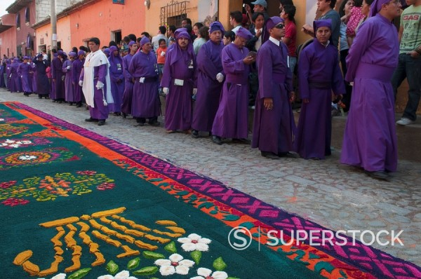 Stock Photo: 1890-98099 Holy Week Procession, Antigua, Guatemala, Central America