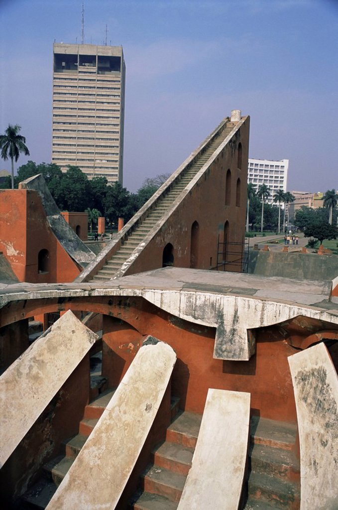 Stock Photo: 1890-9814 The Jantar Mantar observatory, Delhi, India, Asia