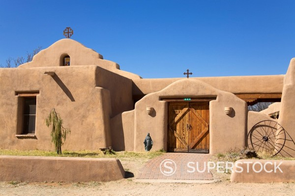 Stock Photo: 1890-99727 Holy Trinity Monastery in St. David, Benson City, Cochise County, Arizona, United States of America, North America