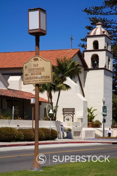 Stock Photo: 1890-99747 San Buenaventura Mission, Ventura County, California, United States of America, North America