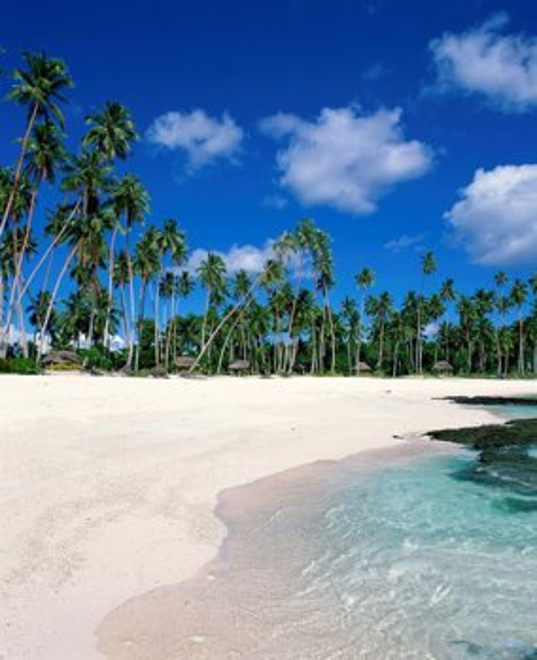 Samoa Beaches: Return To Paradise Beach Near Lefaga, Western Samoa