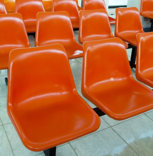 Stock Photo: 1891-135 Empty chairs in a row