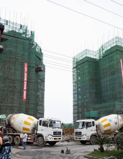 Buildings under construction, China : Stock Photo