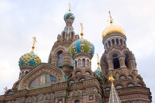 Stock Photo: 1893-435 Church of the Resurrection of Christ, St. Petersburg, Russia