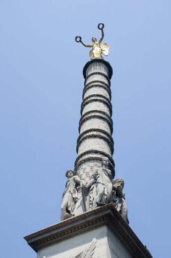 Stock Photo: 1893-447 Low angle view of a monument, Fontaine du Palmier, Place du Chatelet, Paris, Ile-de-France, France
