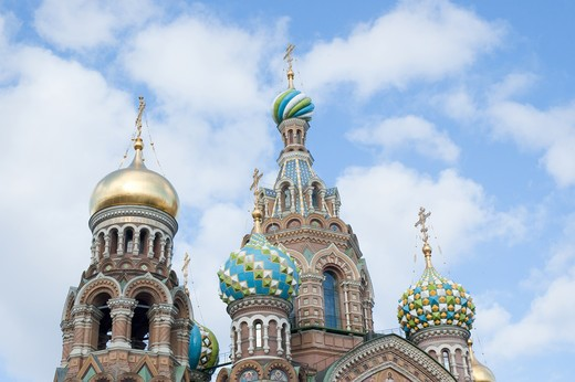 Russia, Saint Petersburg, Church of the Savior on Spilled Blood : Stock Photo