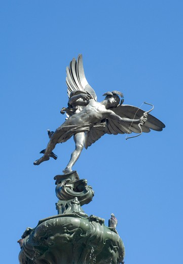 UK, England, London,  Eros statue in Piccadilly Circus : Stock Photo
