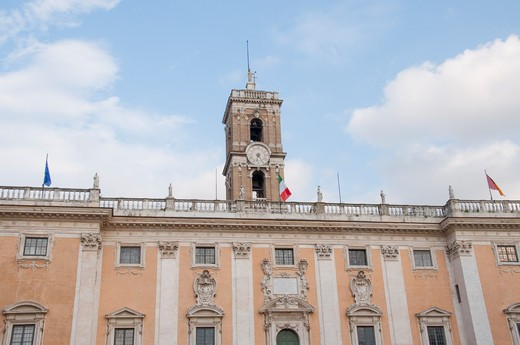 Stock Photo: 1893-734 Italy, Rome, Architecture at Campidoglio on Capitoline Hill