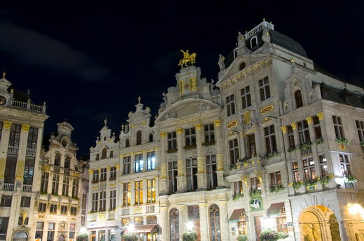 Belgium, Brussels, Architectural detail in Grand Place : Stock Photo