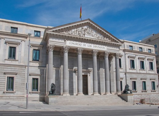 Stock Photo: 1893-816 Spain, Madrid, Congreso De Los Diputados