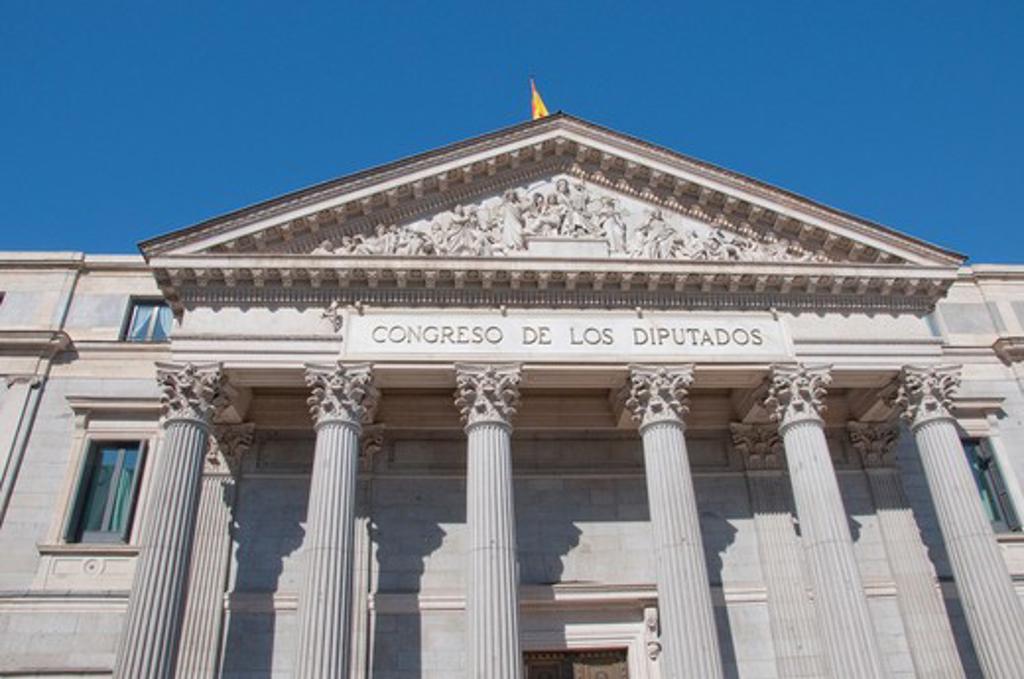 Stock Photo: 1893-817 Spain, Madrid, Congreso De Los Diputados
