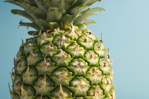Close-up of a pineapple : Stock Photo