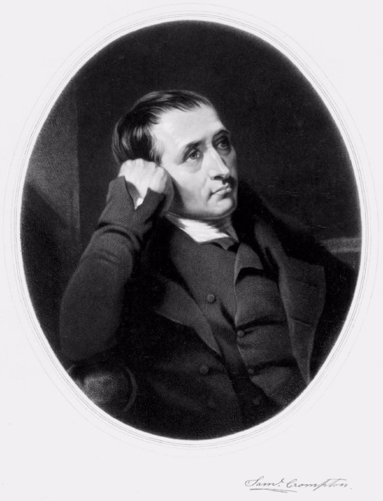 Stock Photo: 1895-10155 Samuel Crompton, inventor of the spinning mule, early 19th century.