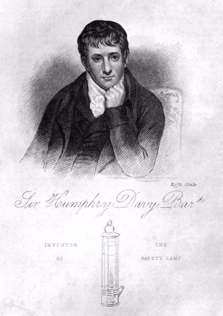 Stock Photo: 1895-10180 Sir Humphry Davy, English chemist, 1822.