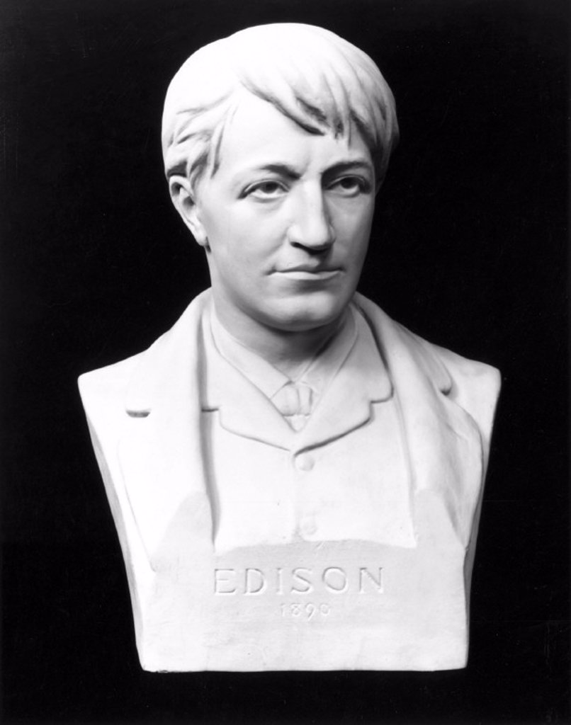 Stock Photo: 1895-10319 Thomas Edison, American inventor, 1889.
