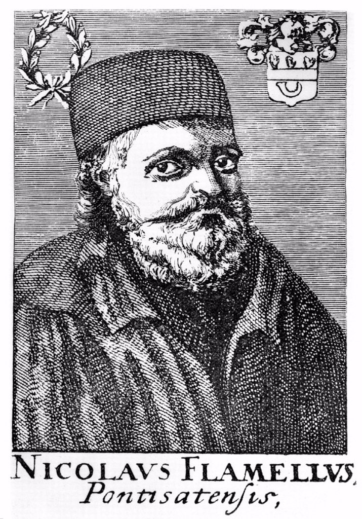 Nicolas Flamel, French alchemist, 14th century. : Stock Photo