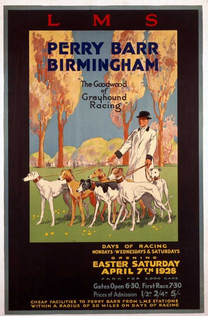 Stock Photo: 1895-1049 ´Perry Barr, Birmingham', LMS poster, 1928.