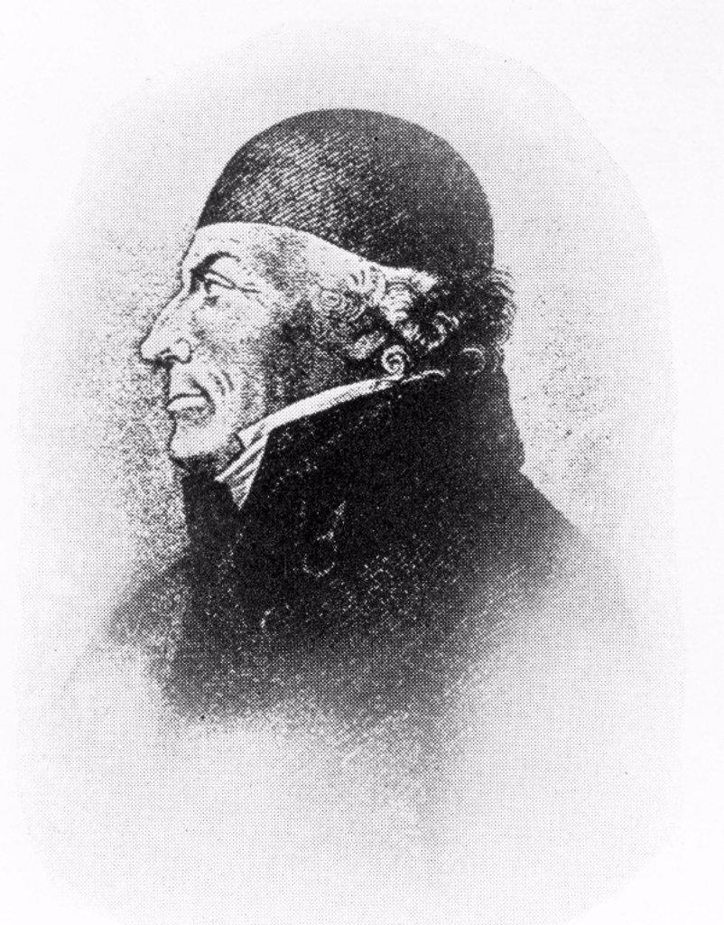 Johann Gahn, Swedish chemist and mineralogist, c 1780. : Stock Photo