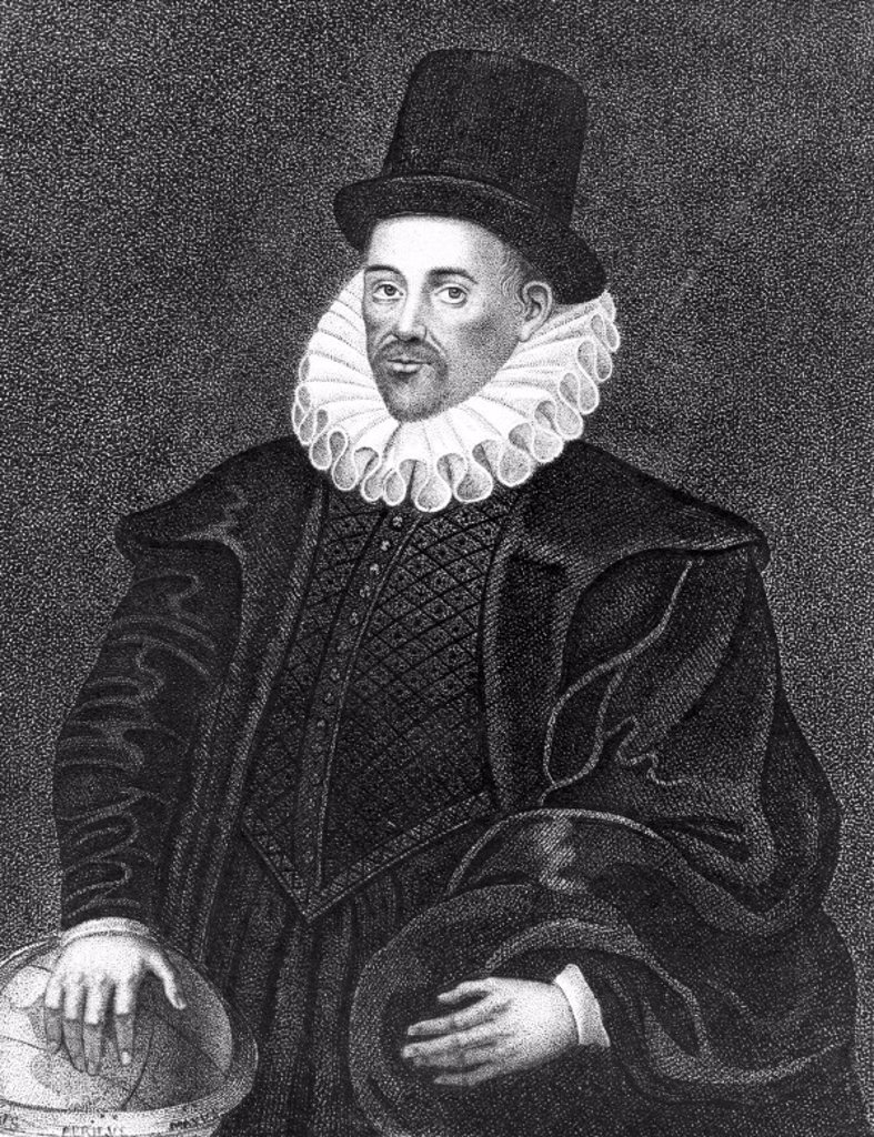 Stock Photo: 1895-10589 William Gilbert, English physician, late 16th century.