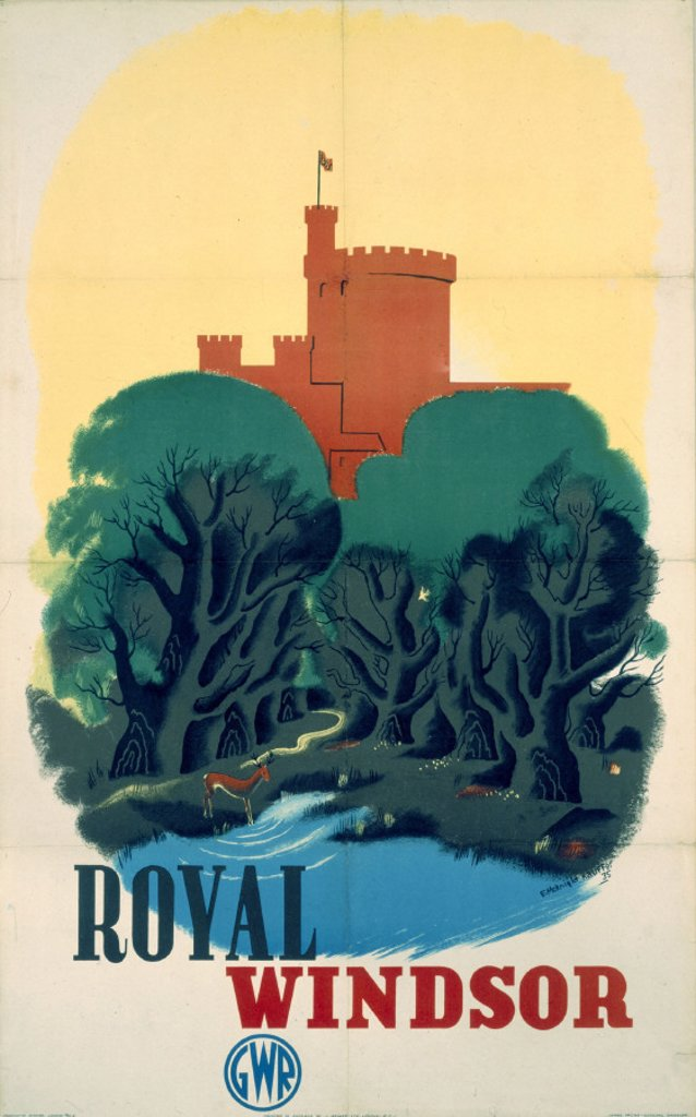 Stock Photo: 1895-1059 ´Royal Windsor', GWR poster, 1935.