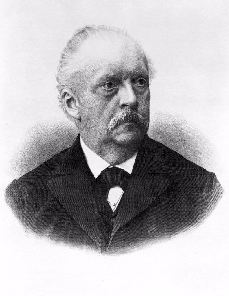 Hermann Von Helmholtz, German physicist, c 1880s. : Stock Photo