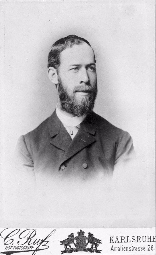 Heinrich Hertz, German physicist, 1886. : Stock Photo