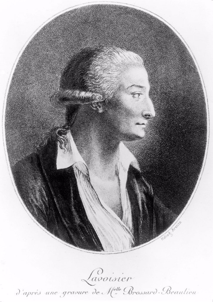Antoine Lavoisier, French chemist, 1788. : Stock Photo