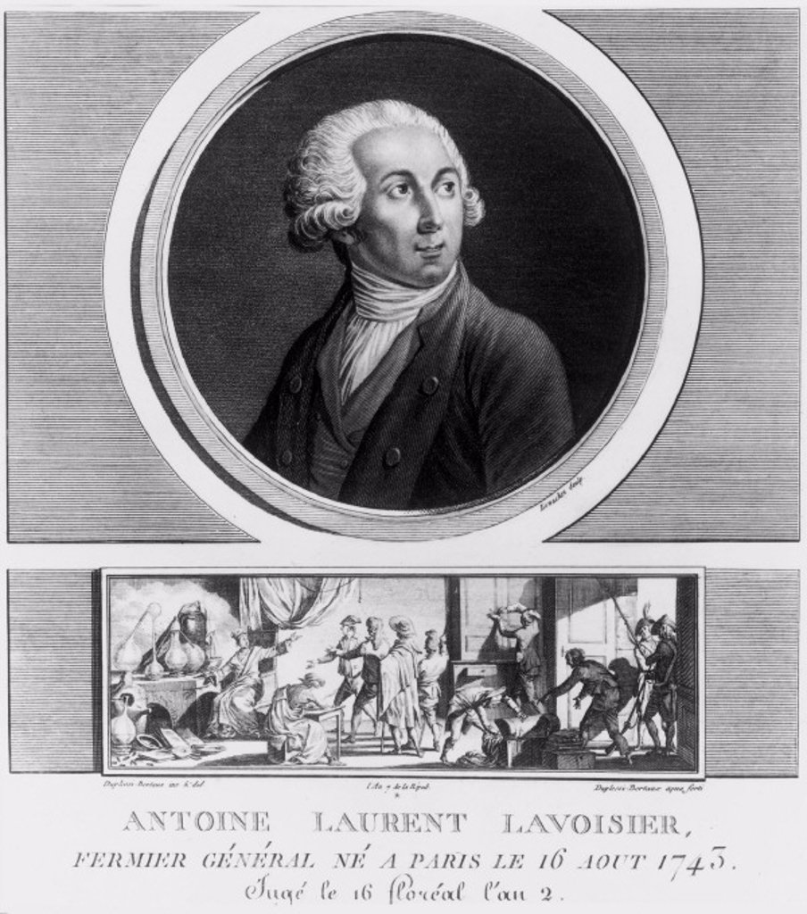 Antoine Lavoisier, French chemist, 1788. : Stock Photo