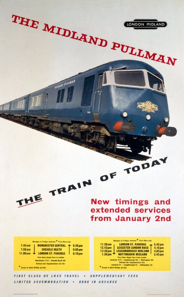 Stock Photo: 1895-1085 ´The Midland Pullman - the Train of Today´,
