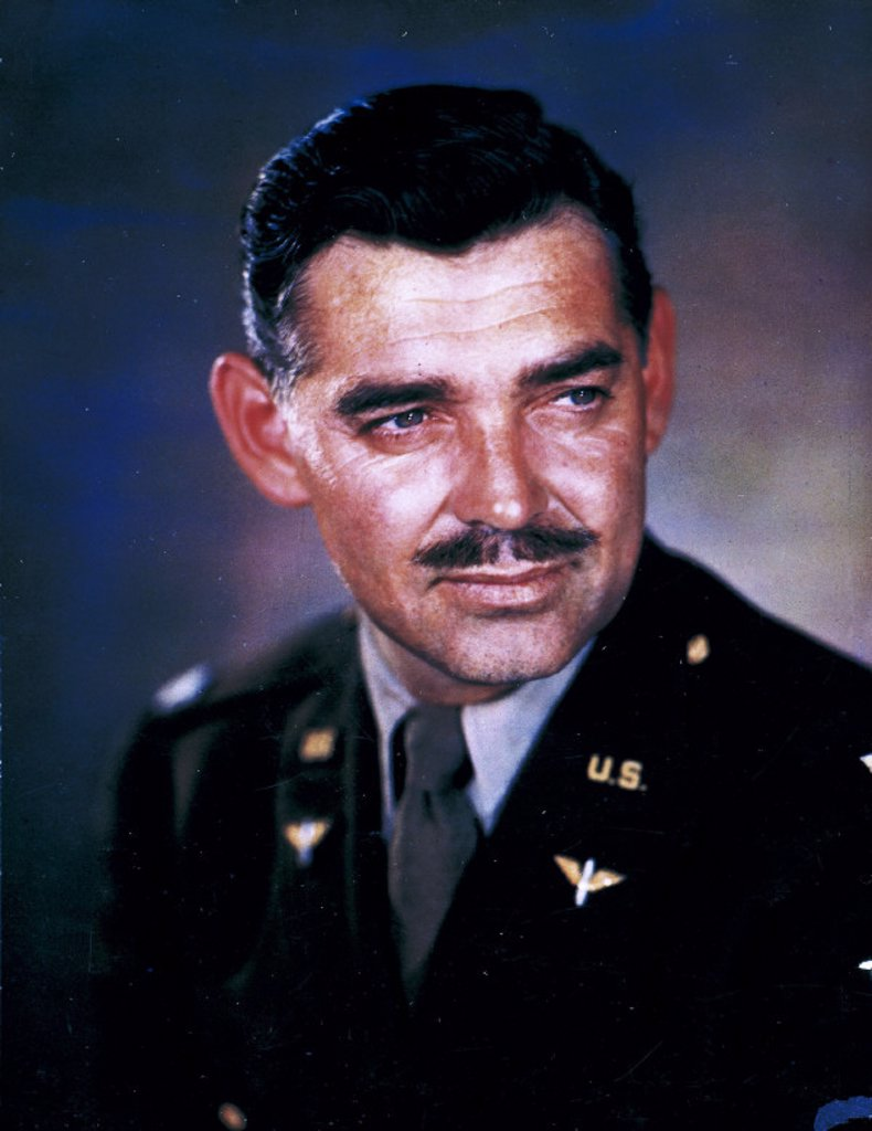 Stock Photo: 1895-10979 Captain Clark Gable, American actor, 1943.