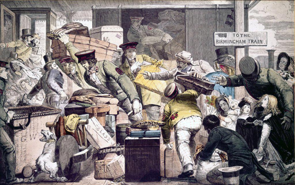 'Break of Gauge at Gloucester´, Gloucestershire, 6 June 1846. : Stock Photo