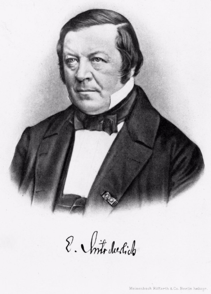 Eilhardt Mitscherlich, German chemist and mineralogist, mid 19th century. : Stock Photo
