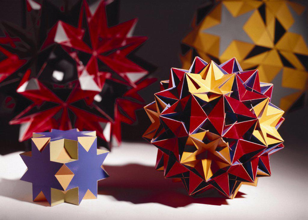 Uniform Polyhedra, c 1965. : Stock Photo