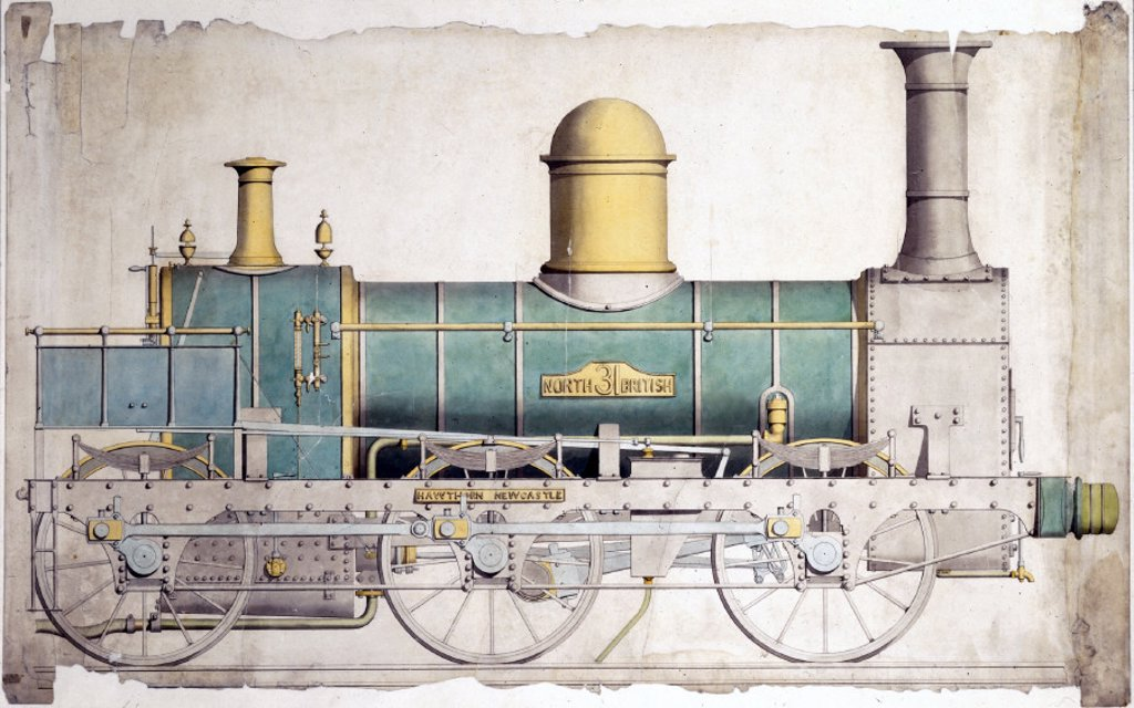 North British Railway locomotive No 31, c 1860. : Stock Photo