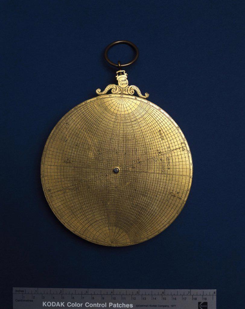 Stock Photo: 1895-12091 Planispheric astrolabe, c 1570.