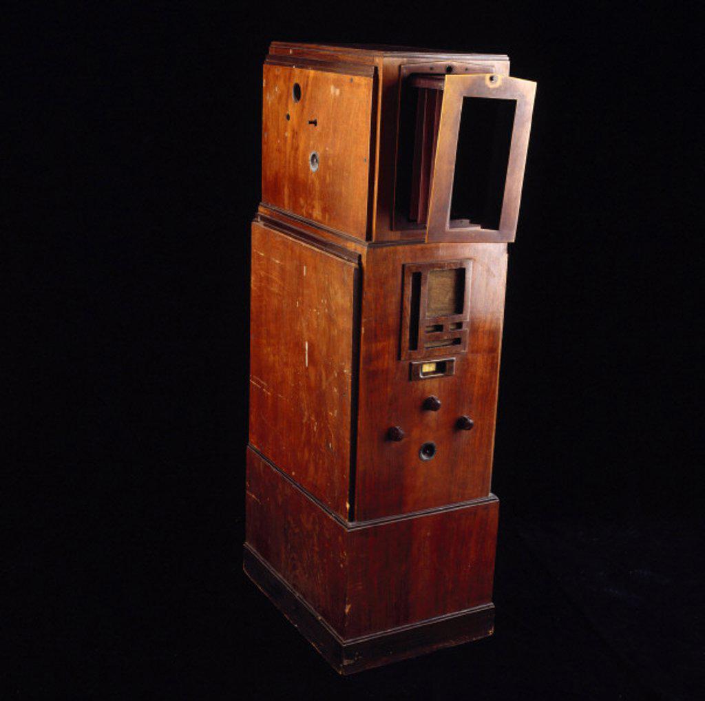 Stock Photo: 1895-12357 Baird television receiver, c 1930s.