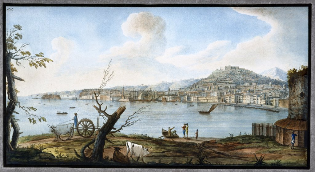Naples as seen from near the bridge of Maddalena, Kingdom of Naples, c 1767. : Stock Photo