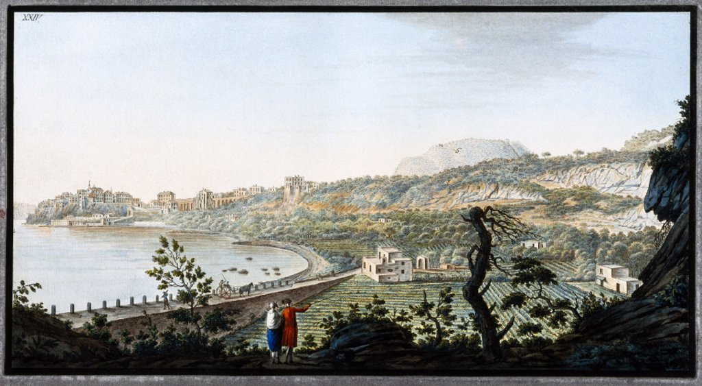 Stock Photo: 1895-12492 View of Puzzoli, Kingdom of Naples, c 1770.