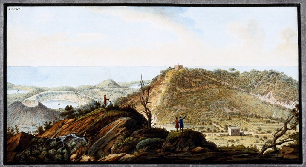 The crater of Monte Gauro, Kindom of Naples, c 1770. : Stock Photo