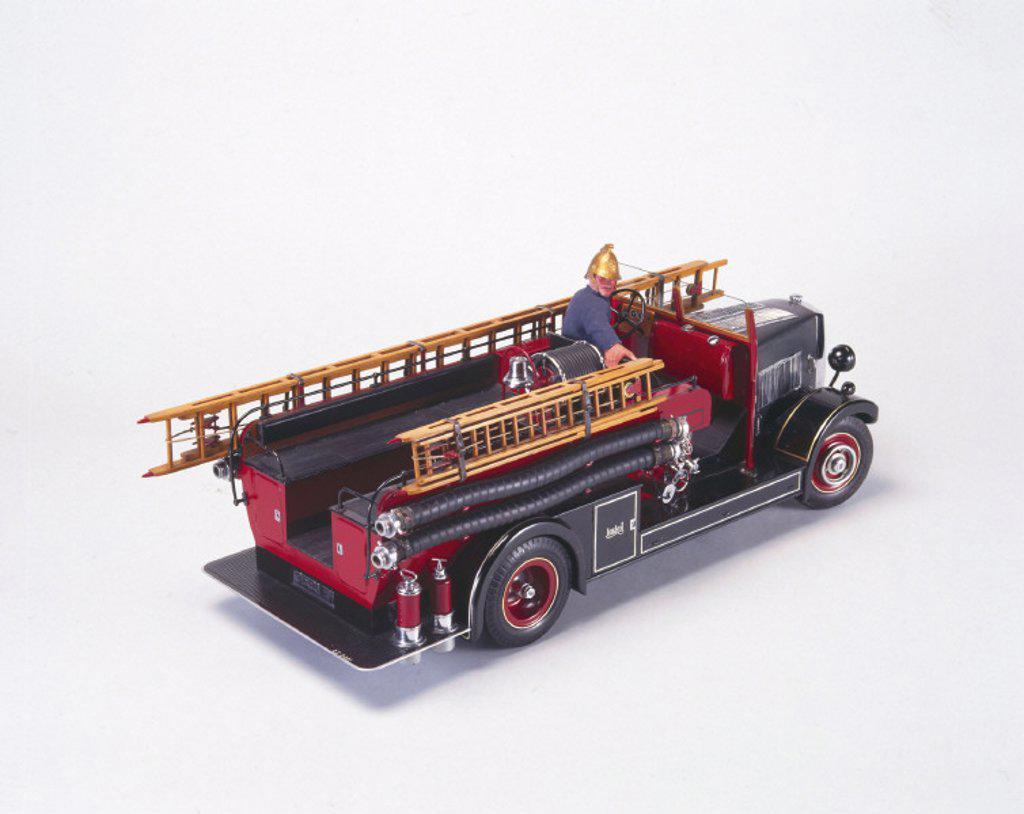 Leyland ´New World´ motor fire engine, 1936. : Stock Photo