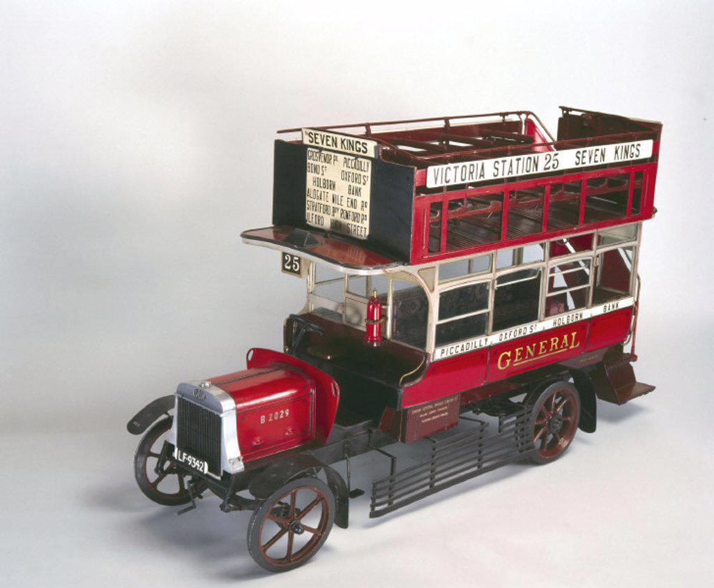 Stock Photo: 1895-12605 ´B´ type motor omnibus, 1910-1921.