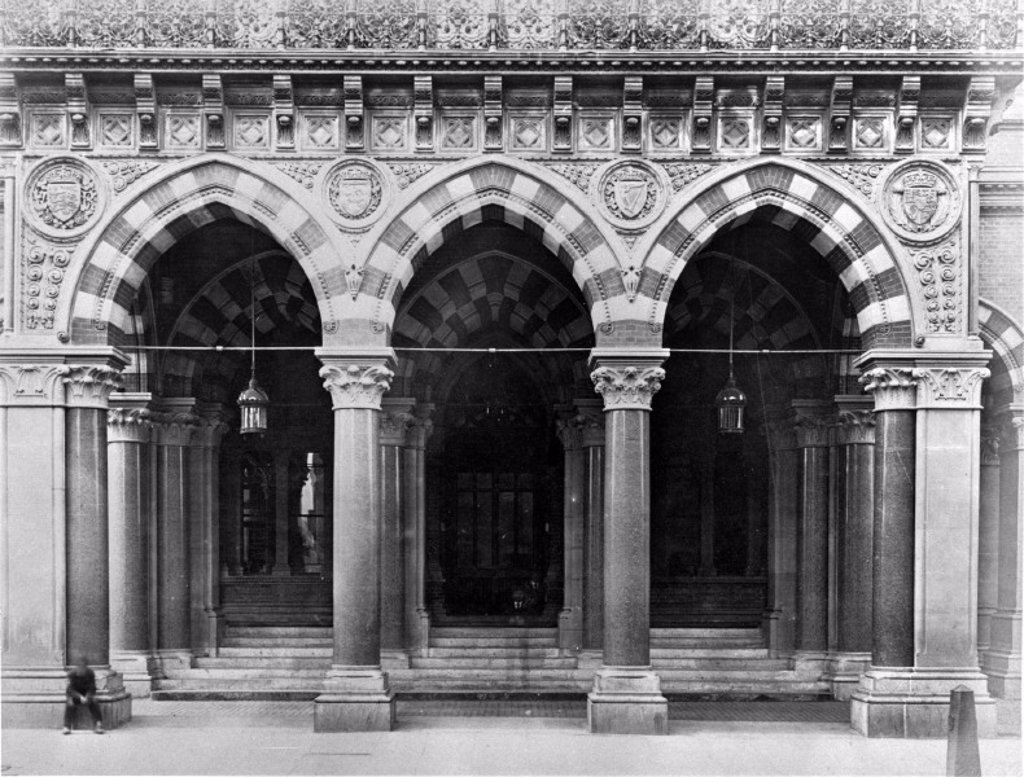 St Pancras Station Hotel, London, 1866-1870. : Stock Photo