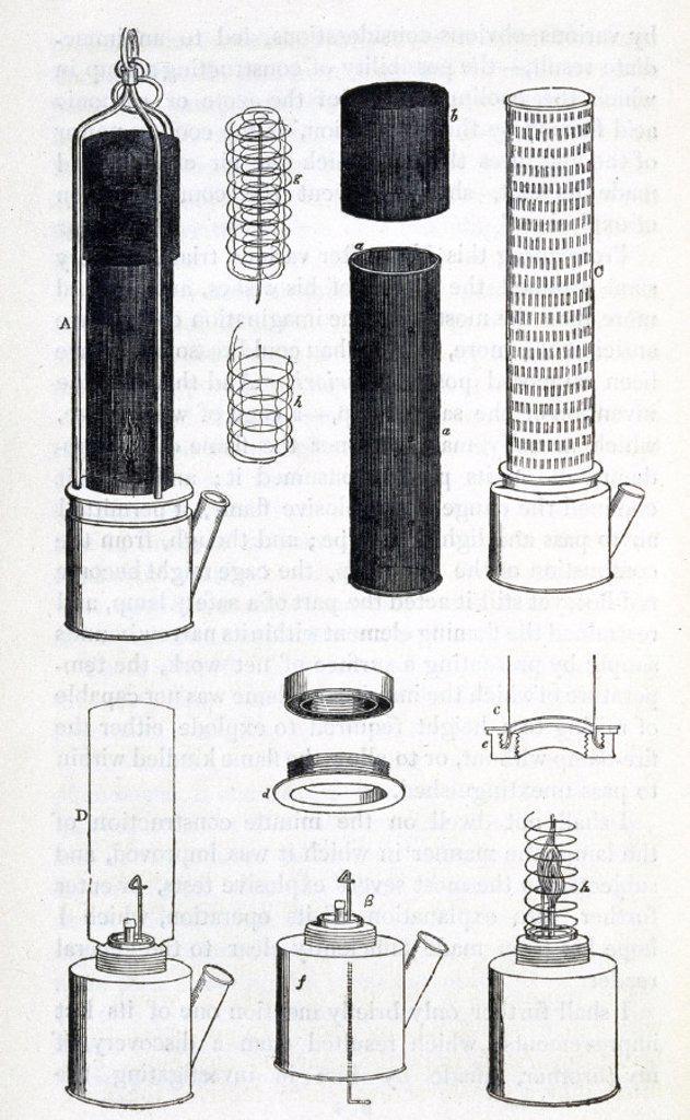 Stock Photo: 1895-13072 Davy Lamp, 1815.