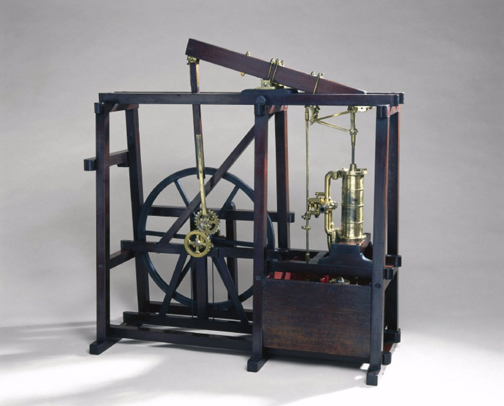 Stock Photo: 1895-13094 Boulton and Watt condensing engine, c 1800.