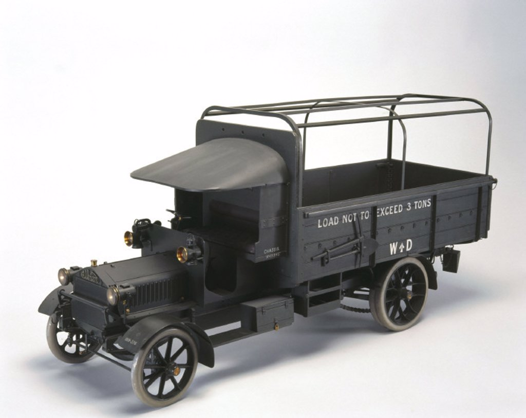 Albion motor wagon, 1914. : Stock Photo