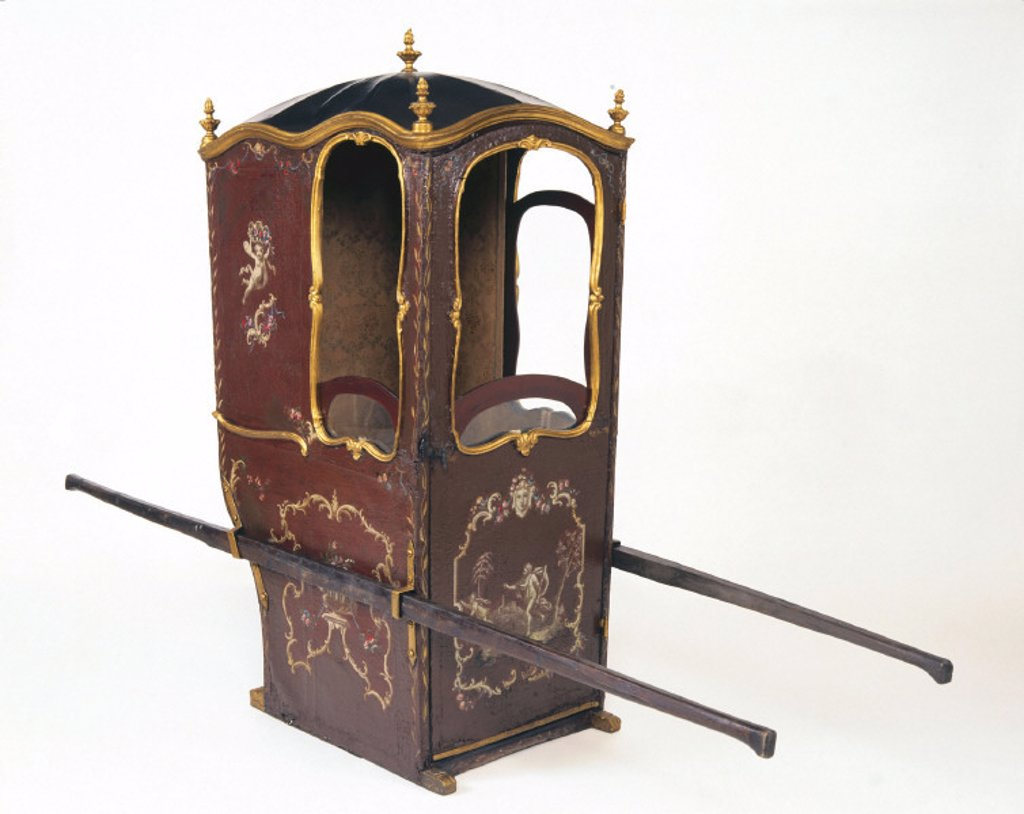 Stock Photo: 1895-13175 Sedan chair, 17th-18th century.